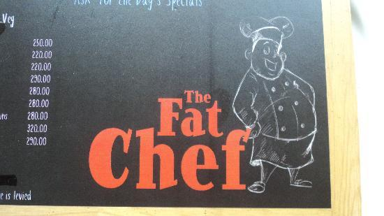 The Fat Chef: Logo in the menu