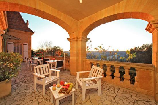 Hôtel de la Pagézie : La terrasse