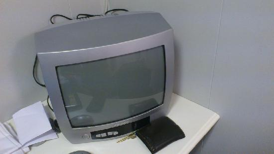 Budget Hotel Kristiansand: Small TV, we didn't use it