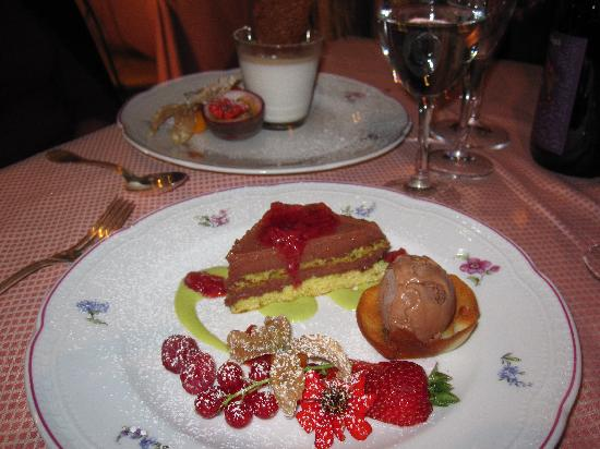 Florence Restaurant : chocolate and pistachio tart