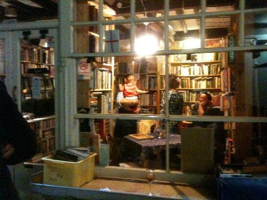 Boulevard Bookshop and Thai Cafe: From outside at night