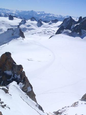 Vallee Blanche: Upper route from the summit of the Auguille du Midi