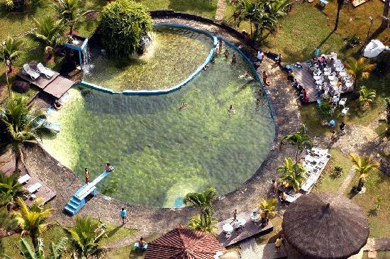 Pousada das Cachoeiras: Vista aerea Piscina natural