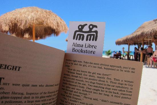 Alma Libre Bookstore : The beach is a great place to enjoy a book purchased at Alma Libre!