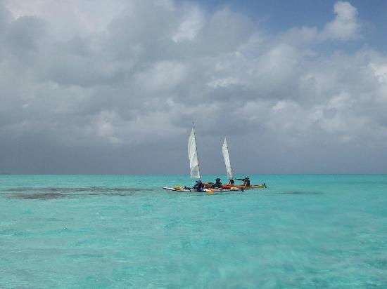 Half Moon Caye National Monument: Kayak sailing