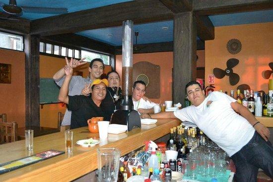 Mezcalitos Restaurant & Beach Bar Cozumel : having fun