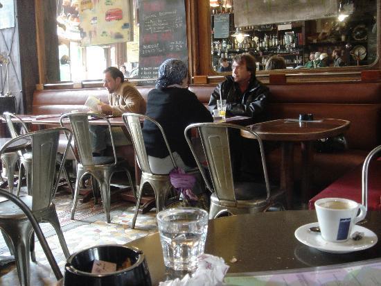 Inside Cafe Charbon