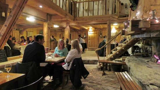 La Ferme du Sartot: The main dining room, a cozy place for dining.