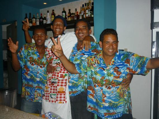 La nouvelle équipe très dynamique du nouveau resto/bar Stanza Mare