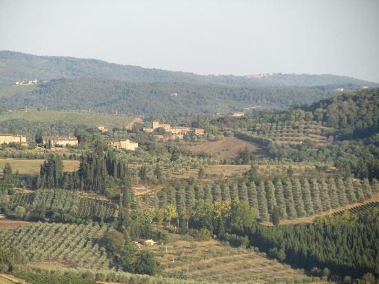 Santa Maria a Poneta: Tuscan countryside from Barberino Val d'Elsa