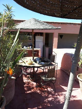 Riad Miski: Breakfast on the roofterrace