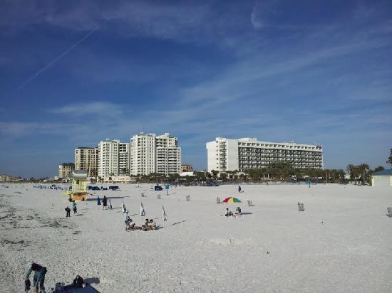 Clearwater Beach with Hilton in the Background