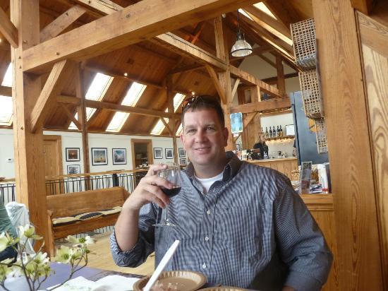 Blenheim Vineyards: My husband is enjoying his glass of Cabernet Franc