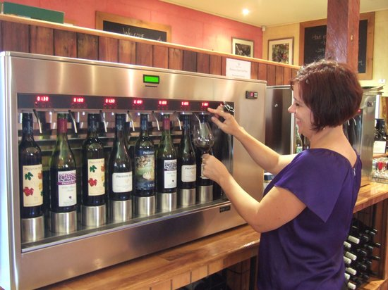 Preston Peak Wines: Wine serving system at the Cellar Door