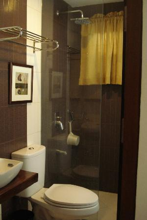 هوم كريست ريزيدنسز: Modern bathroom fixtures with a dipper (tabo) for Pinoys!!!