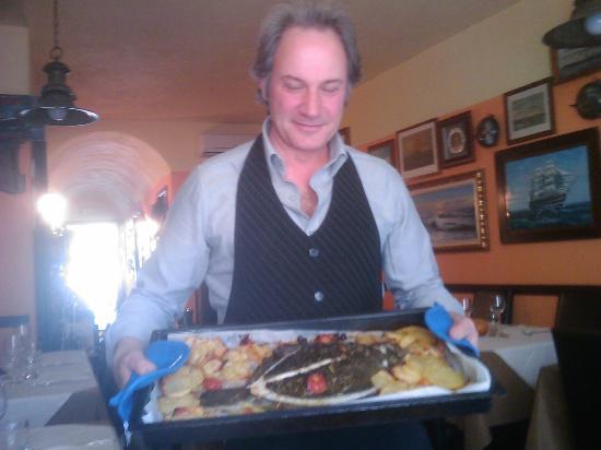 La Taverna del Capitano : Rombo con le patate dal Capitano!