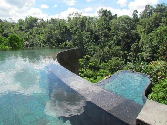 Hanging Gardens of Bali: the main pools