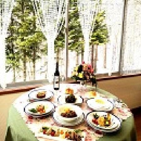 Davos Hill Resort: 景色を見ながらお食事