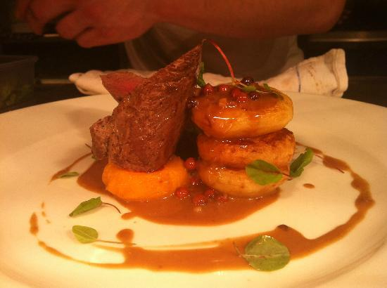 Dining at The Sea Trout Inn: Venison Steak