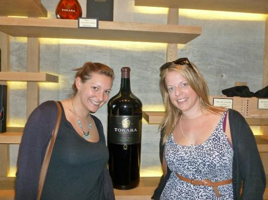 African Story Wine Tours: me and elly with a large bottle of vino