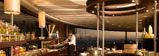 Hyatt Regency Dubai: Al Dawaar, Dubai's only revolving restaurant  with spectacular views, serving lavish Internation