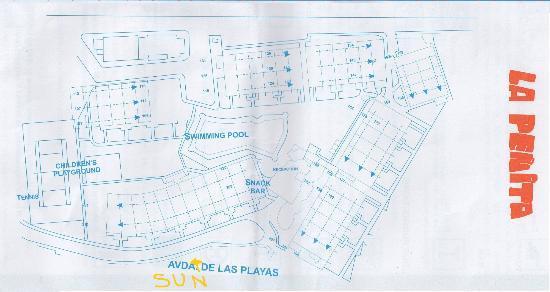 Layout of apartment complex - Picture of La Penita ...