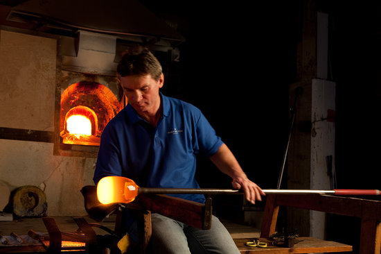 Dartington Crystal: Our Master Glass Blower At Work.