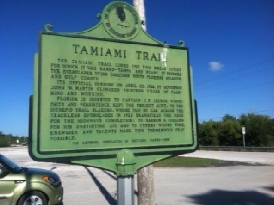 Everglades Area Chamber Of Commerce Welcome Center: Historic Marker near the Chamber
