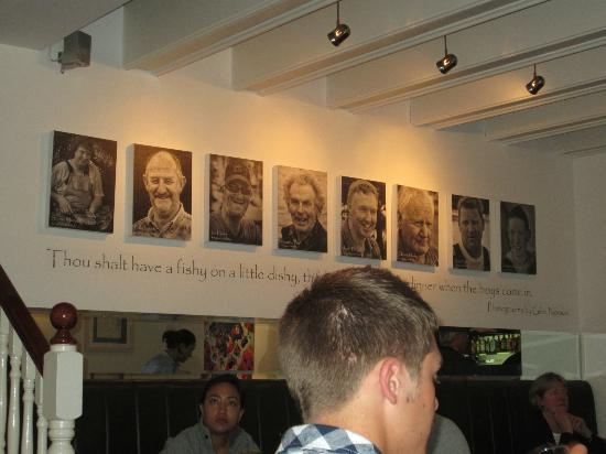 Cool panel of local fishermen portraits and quote Picture
