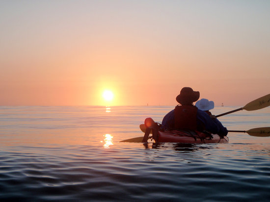 Liquid Fusion Kayaking: Kayaking into a Mendocino Sunset