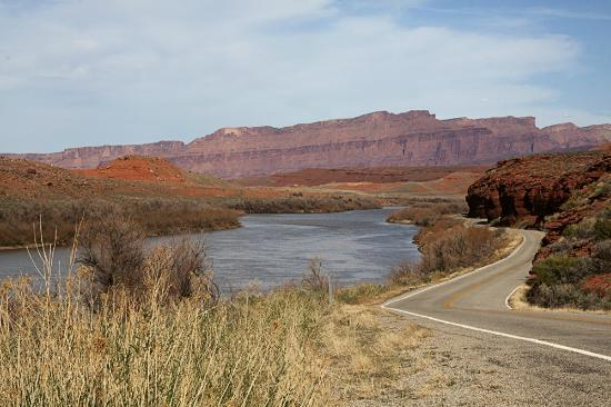 Quality Inn Moab Slickrock Area: the Colorado River off of Highway 128