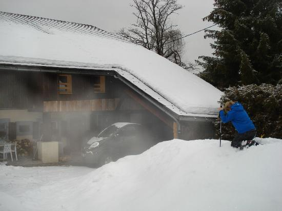 Chalet Fourmiliere: Outside one snowy day...