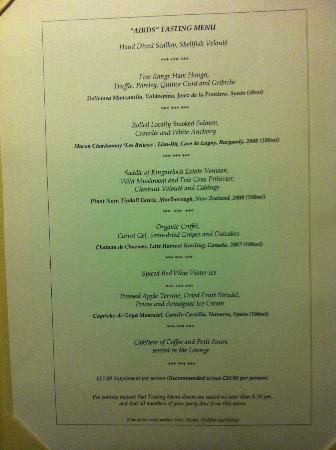 Airds Hotel & Restaurant: The Taster Menu