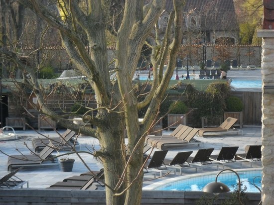 Thermae Boetfort Spa and Hotel: piscines vu de la chambre