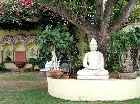 Hotel Anuraag Villa: Back garden.
