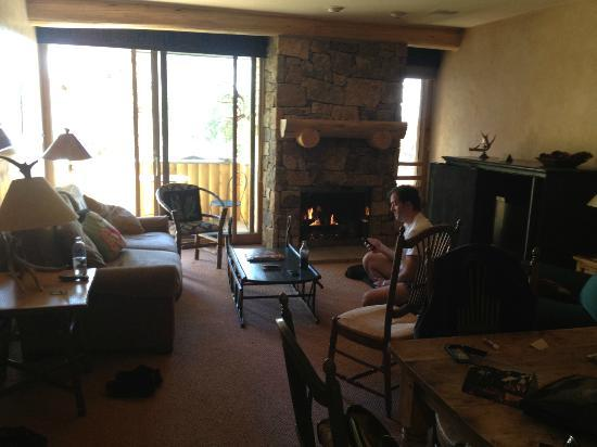 Vail's Mountain Haus at the Covered Bridge: view of living room of 2 BR unit