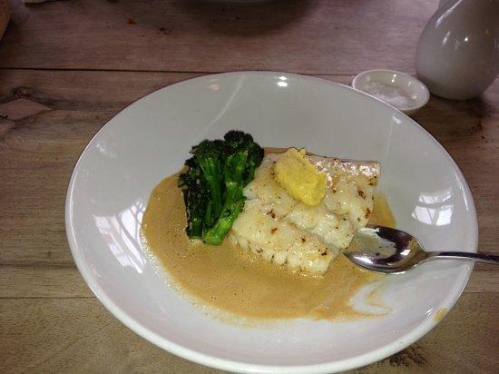 Seasalter, UK: Cod & fennel purée