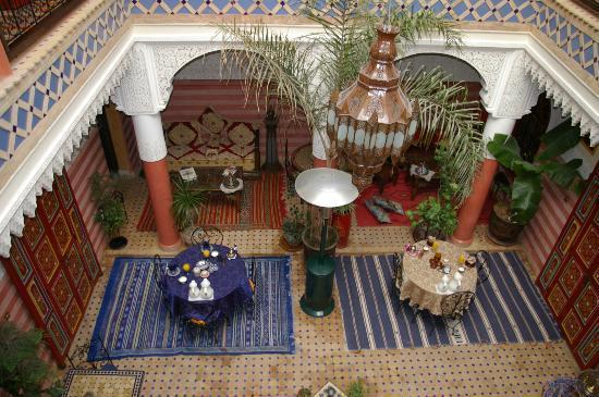 Riad Bleu Du Sud : patio