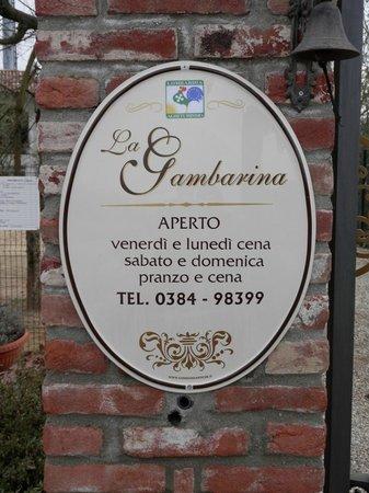 Mortara, Italy: Ristoro agrituristico.insegna del locale.