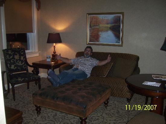 French Lick, IN: the living room