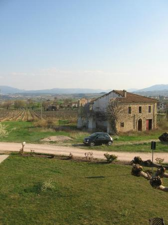 Casa Turrita: View from our room of our rental car