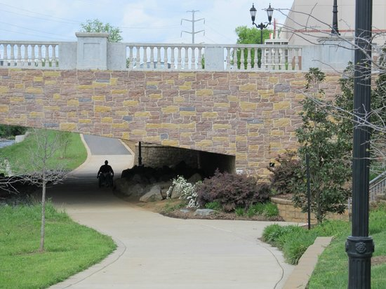 Little Sugar Creek Greenway: Under the bridge