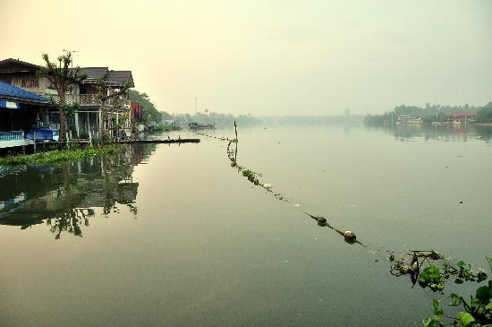 Amphawa Riverview : Tranquil beautiful scenery from their riverside deck