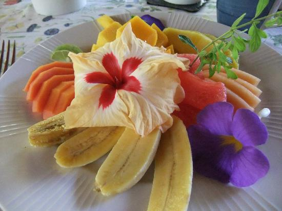 Coral Hill Bungalows: fruit plate, just a part of your delicious and beautiful breakfast