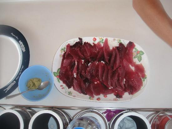 Dorado Game Fishing Private Charter: Sashimi from the first tuna - right on the boat