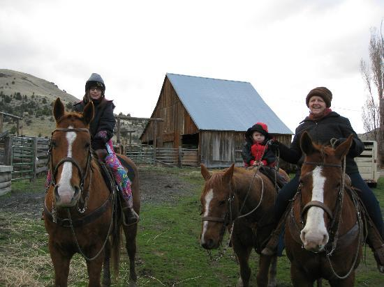 Wilson Ranches Retreat Bed & Breakfast: Saddled up.