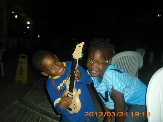 Merrils Beach Resort II: Most precious kids, their dad was playing in a band at resort along with son who put on a show!