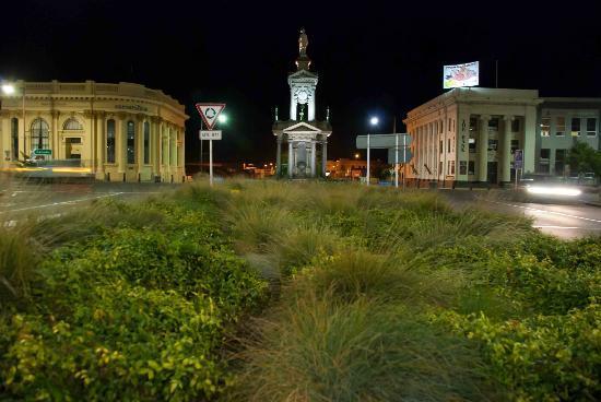 The South African War Memorial after dark