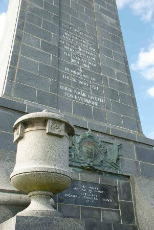 Invercargill Cenotaph: Inscriptions on the monument