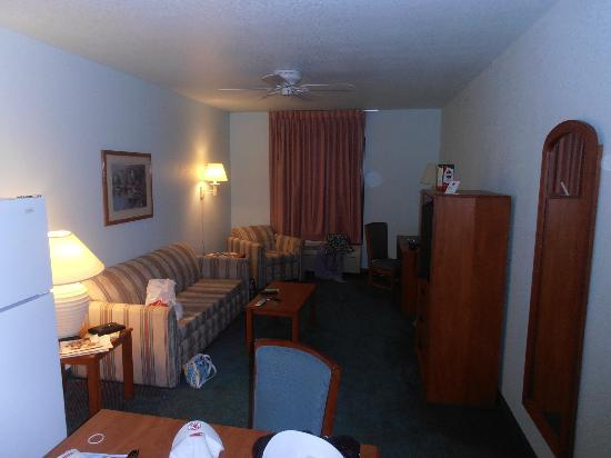 Days Inn & Suites by Wyndham Fort Myers Near JetBlue Park : living room view